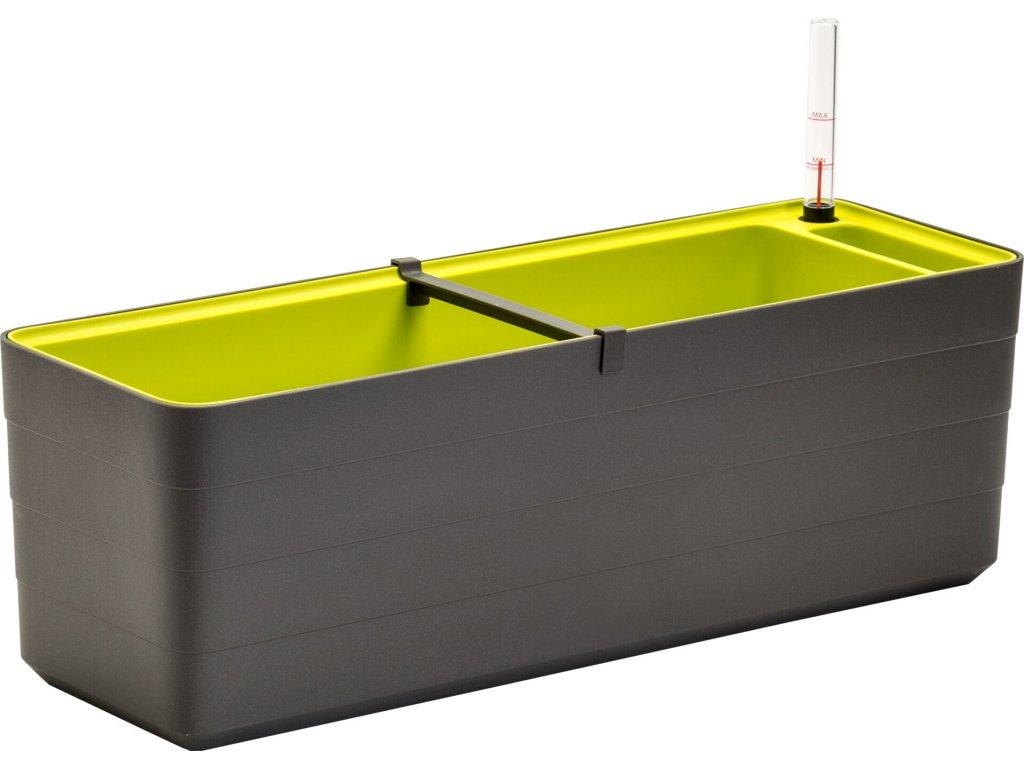 Samozavlažovací truhlík Berberis antracit+zelená 60 cm