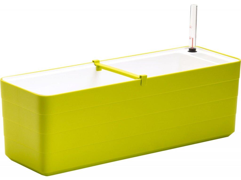 Samozavlažovací truhlík Berberis zelená + bílá 80 cm