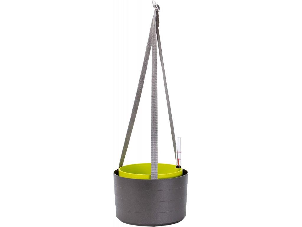 Žardina samozavlažovací Berberis - antracit + zelená 30 cm