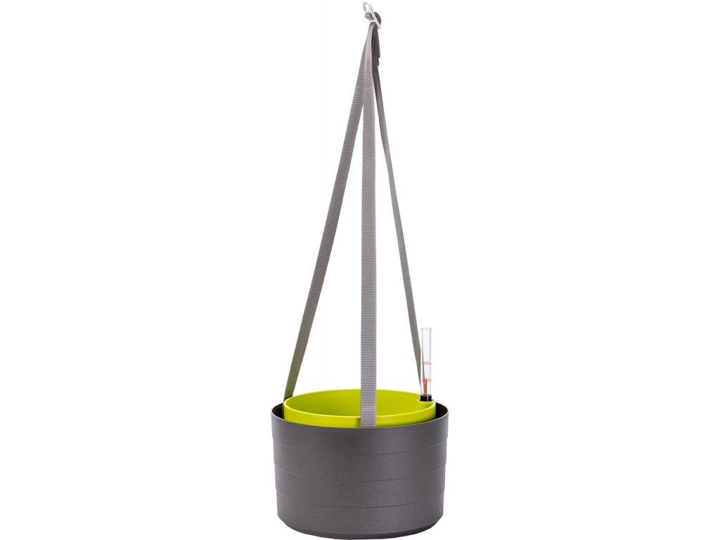 Žardina samozavlažovací Berberis - antracit + zelená 26 cm