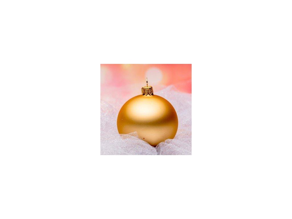 Skleněná vánoční ozdoba, zlatá, 12ks