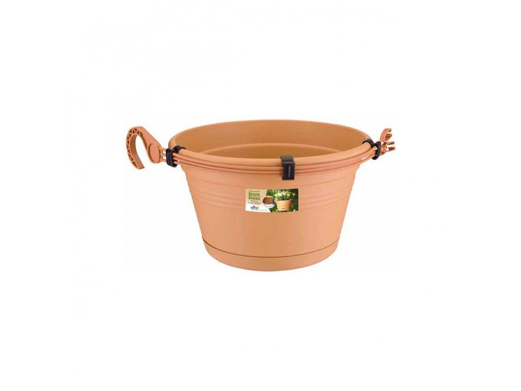 elho závěsný květináč green basics hanging basket 23 - mild terra
