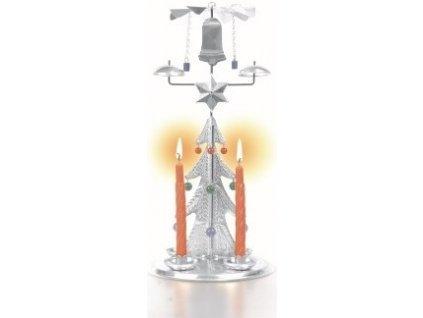 Andělské zvonění - Zvonící stromek STŘÍBRNÝ