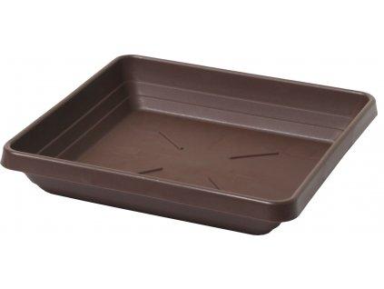 Miska čtyřhranná Lotos 35 - čokoládová