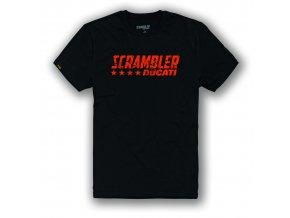 Tričko Ducati Scrambler Black Flip