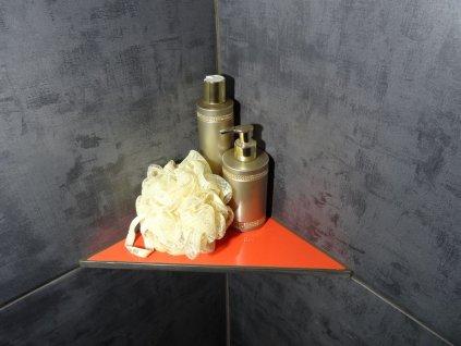 Sprchová police L, trojúhelníková, rovnoramenná, obkladová, 250x250 mm, 10 mm
