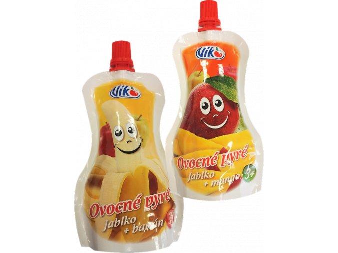 23016 Ov. pyré jablko+banán (40x120g) 4,8kg a 23015a