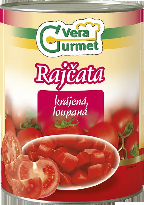 Rajčata loupaná - krájená 2,5kg