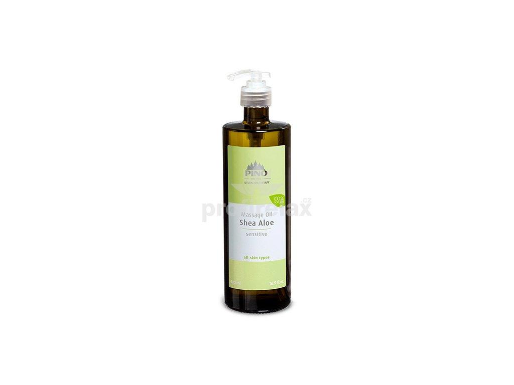 Aromatický masážní olej Bambucké máslo-Aloe 500 ml