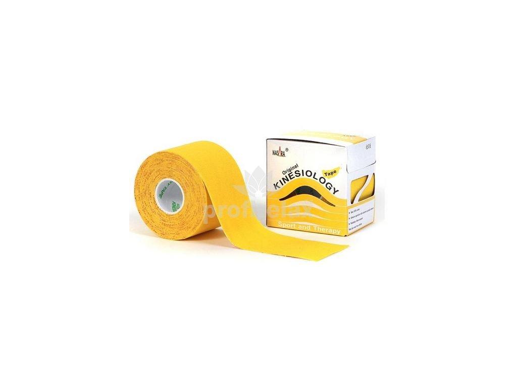 NASARA Tejp žlutý 5 cm x 5 m