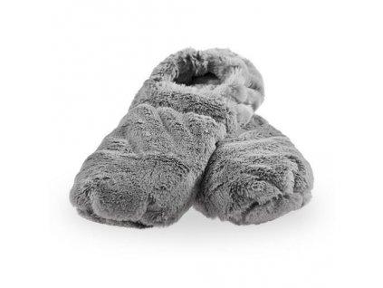 Hřejivé bačkory Slippies de Luxe šedé L