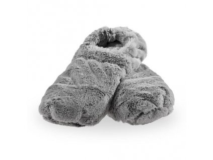 Hřejivé bačkory Slippies de Luxe šedé M