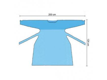 Jednorázová ochranná PE zástěra s rukávem, 10 ks