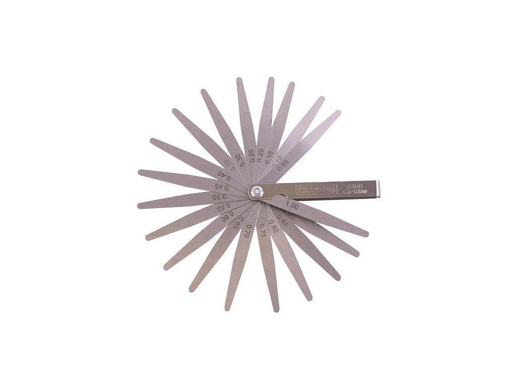 Škáromer Strend Pro TG-165, 20 listov, mierka na meranie špár