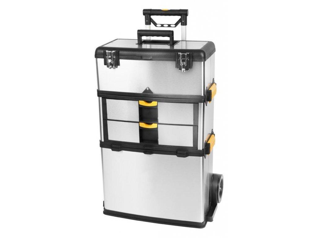 Box na náradie Strend Pro TBx3042-F, na kolieskach s rúčkou, nerezový, max. 36 kg