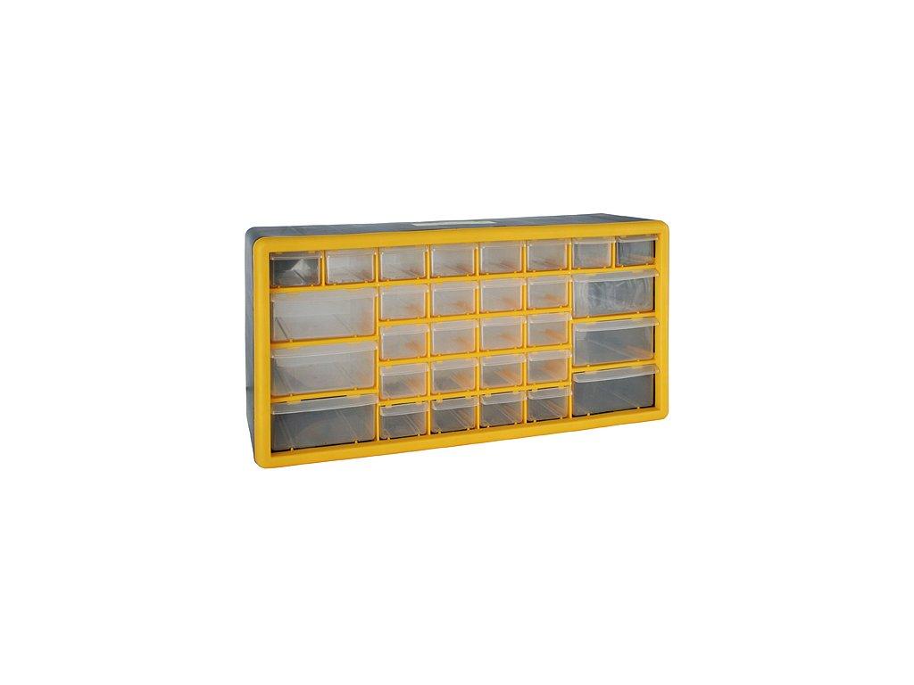 Organizér na stenu Strend Pro SBx3045-E, 30 zásuviek, 50x16x23 cm, max. 25 kg