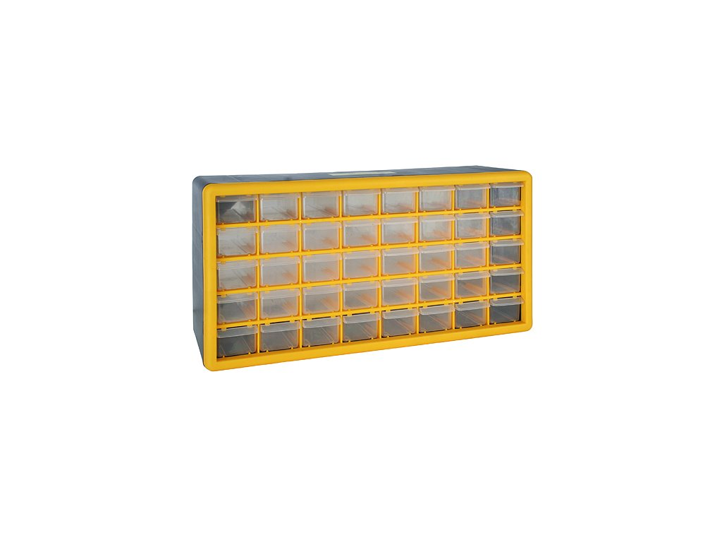 Organizér na stenu Strend Pro SBx3045-F, 40 zásuviek, 50x16x25 cm, max. 25 kg