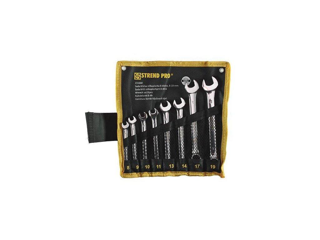 Sada kľúčov Strend Pro HR31583 očkoplochá, 8 dielna, Cr-V, 8-19 mm