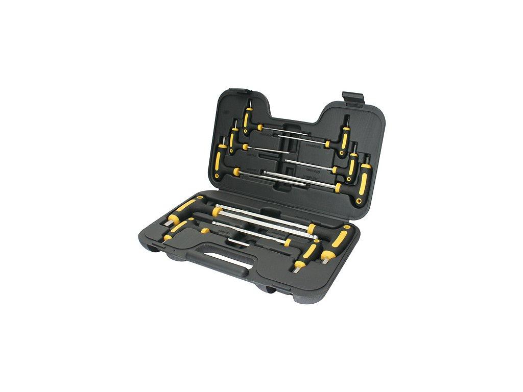 Sada skrutkovačov Strend Pro YF70019, 10 dielna, Hex s guličkou, držiak T, v kufri