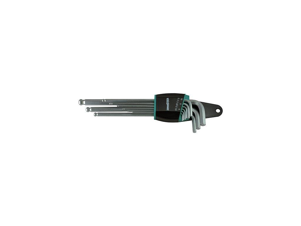 Sada kľúčov Whirlpower® 158-0109, 9 dielna, Hex, Ballpoint, Imbus s guličkou