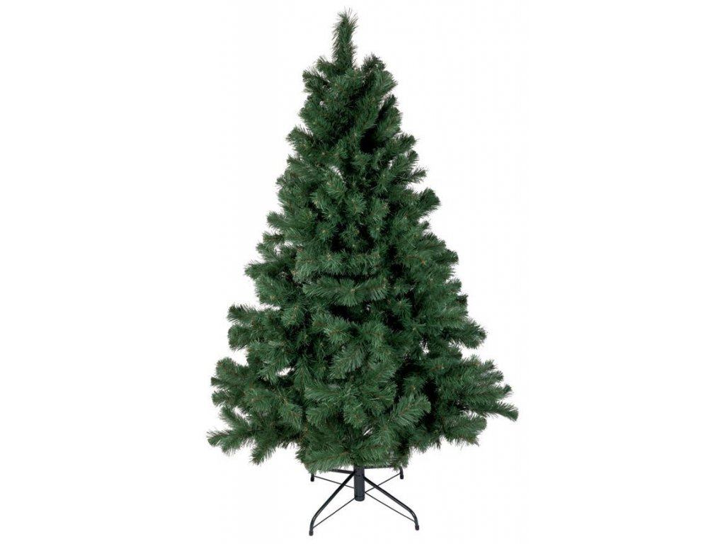 Stromček MagicHome Vianoce Cleo, jedľa, kovovy stojan, 180 cm