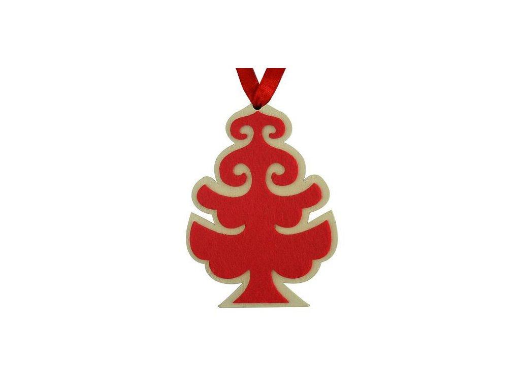 Ozdoba MagicHome Vianoce, Stromček, závesný, bal. 5 ks