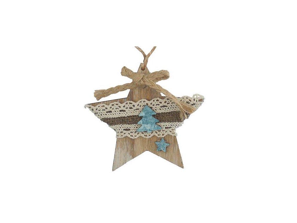 Ozdoba MagicHome Vianoce, Hviezdička, závesná, bal. 5 ks, 10 cm