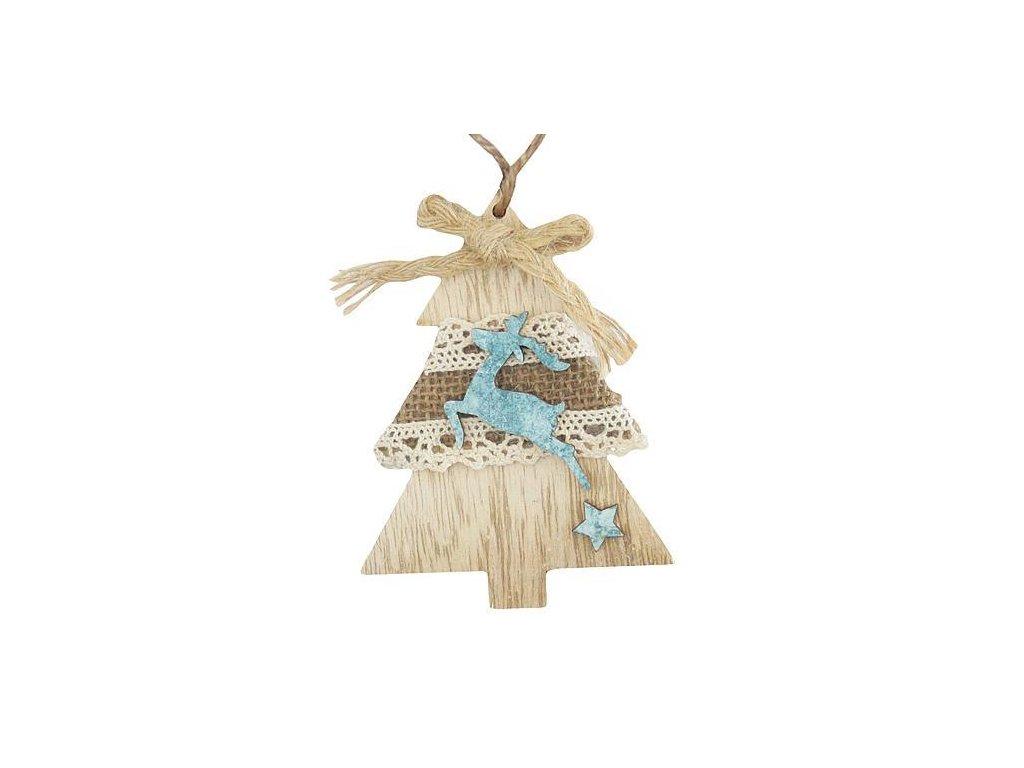 Ozdoba MagicHome Vianoce, Stromček, závesná, bal. 5 ks, 10 cm