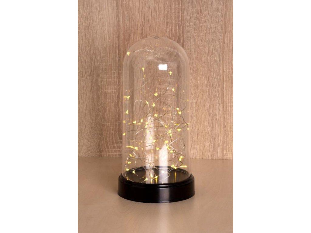 Kupola MagicHome Vianoce DomeLight, 50 LED, 3xAA, interiér, 13.5x27cm