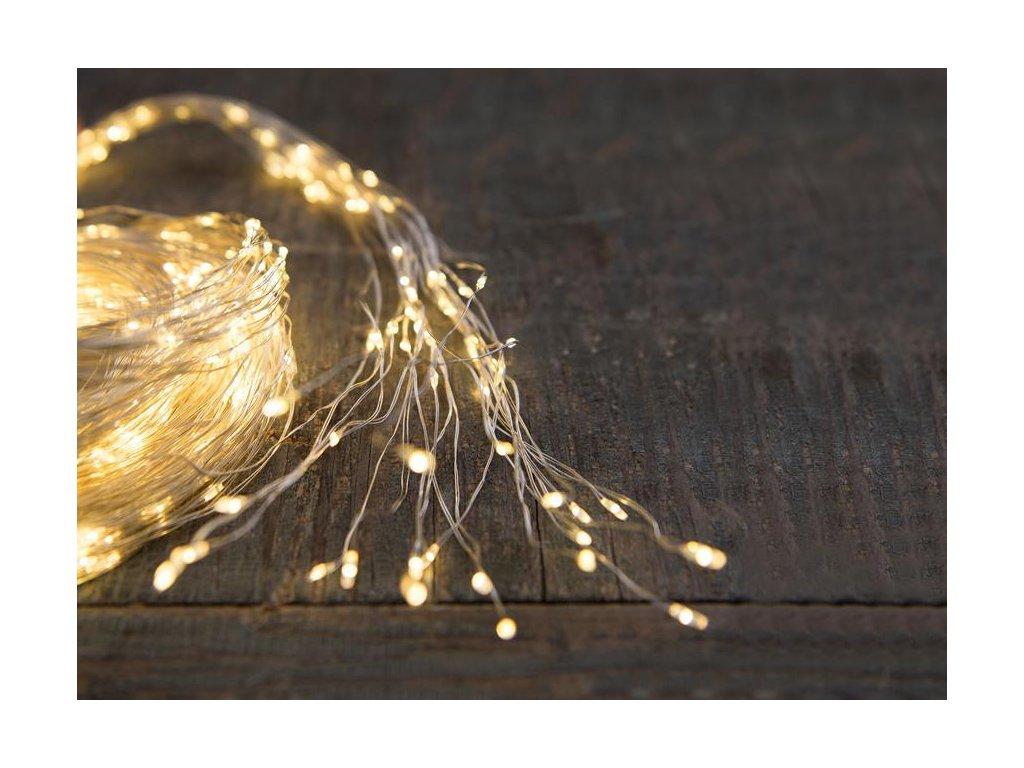 Reťaz MagicHome Vianoce Twisted Stars 120S, 1200 LED teplá biela, jednoduché svietenie, 230 V, 50 Hz