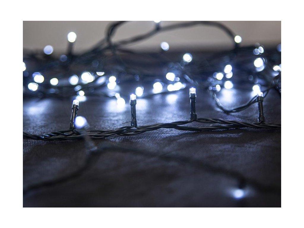 Reťaz MagicHome Vianoce Serpens, 100 LED studená biela, 8 funkcií, 230 V, 50 Hz, IP44, exteriér, L-1