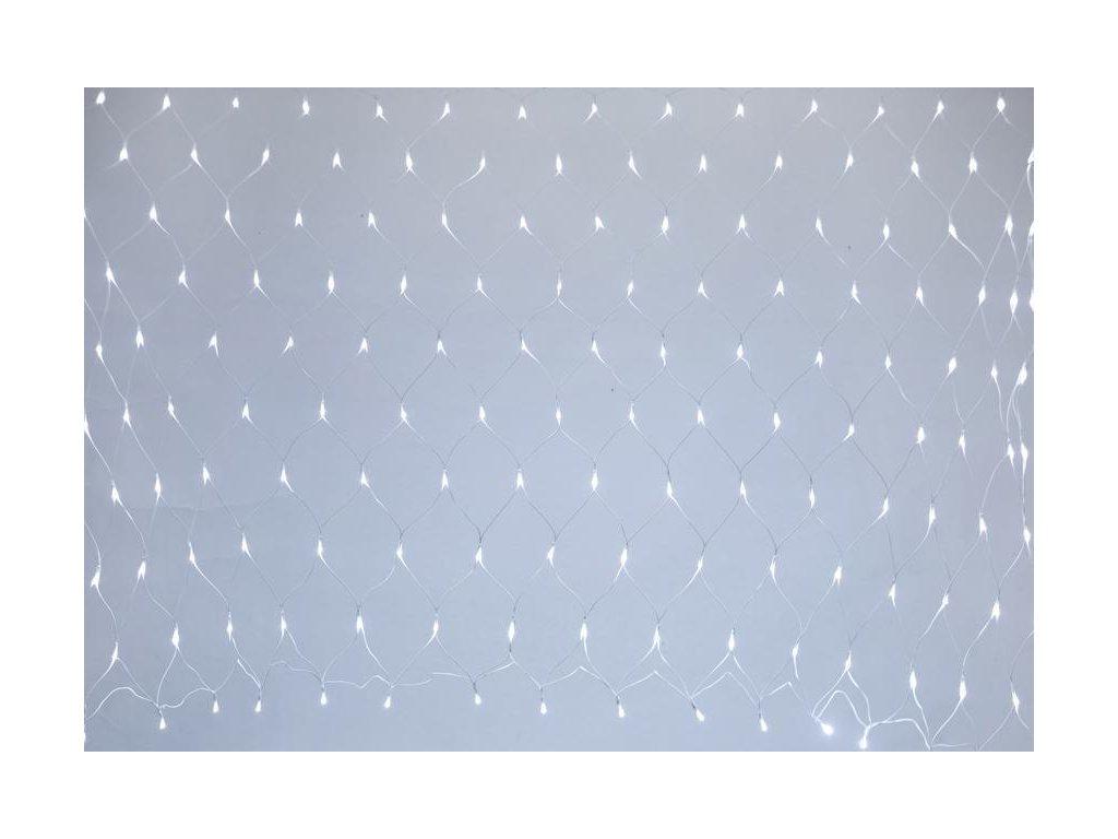Reťaz MagicHome Vianoce Netled, 160 LED studená biela, MULTI CONNECT, jednoduché svietenie, biely ká