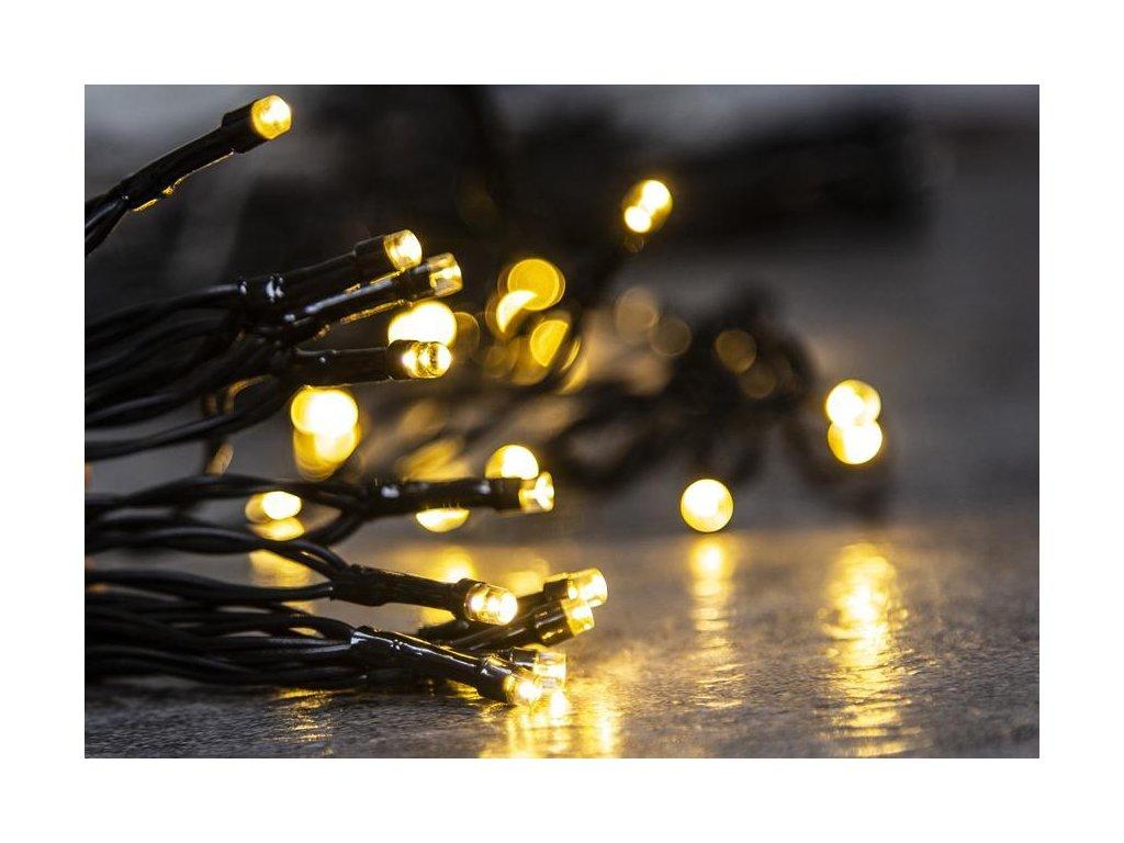 Reťaz MagicHome Vianoce Ceibo, 192 LED teplá biela, 8 funkcií, časovač, 3xAA, exteriér, L-14,30 m