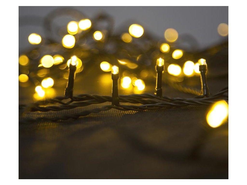 Reťaz MagicHome Vianoce Errai, 320 LED teplá biela, 8 funkcií, 230 V, 50 Hz, IP44, exteriér, napájac