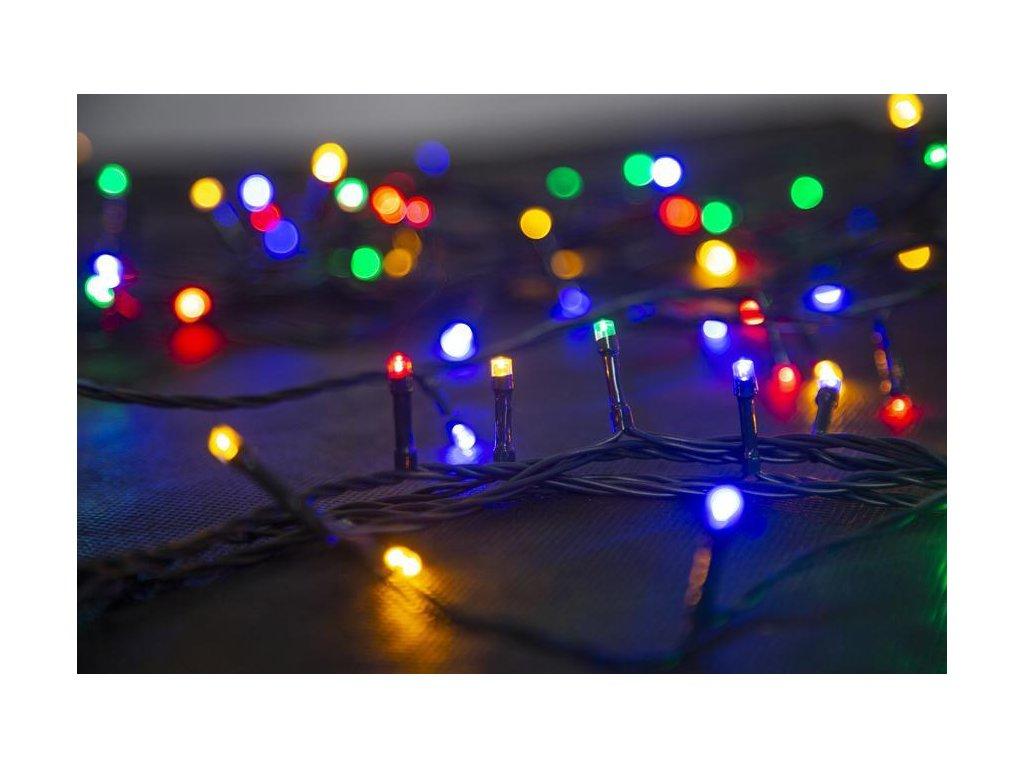 Reťaz MagicHome Vianoce Errai, 320 LED multicolor, 8 funkcií, 230 V, 50Hz, IP44, exteriér, napájací