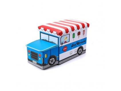 pojemnik auto pufa dla dzieci na zabawki or16wz7