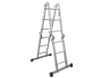 Rebrík WR2397-IGS, 4x3 univerzálny, bez plošiny, kĺbový