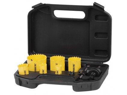 Sada vyrezávačov Strend Pro BHS 6689, Bi-metal, korunky, 9 dielna, 19-57 mm, professional