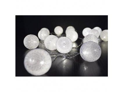 Reťaz MagicHome Cottonball, White, 16 LED teplá biela, IP20, jednoduché svietenie, osvetlenie, L-3 m