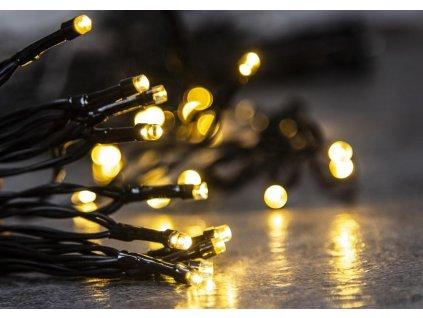 Reťaz MagicHome Vianoce Ceibo, 96 LED teplá biela, 8 funkcií, časovač, 3xAA, exteriér, L-7 m