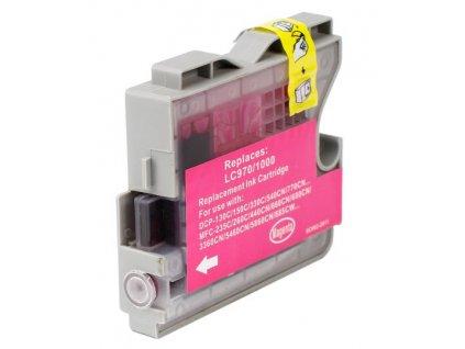 brother lc970 lc1000 magenta kompatibilni inkoustova napln cervena lc 970 lc 1000