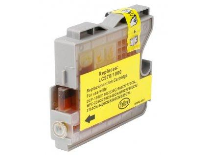 brother lc970 lc1000 yellow kompatibilni inkoustova napln zluta lc 970 lc 1000