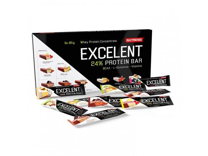 Nutrend Excelent Protein Bar dárkové balení 9 x 85 g