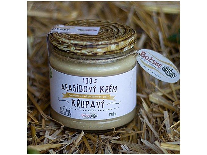 100% Arašídový krém - křupavý 190g