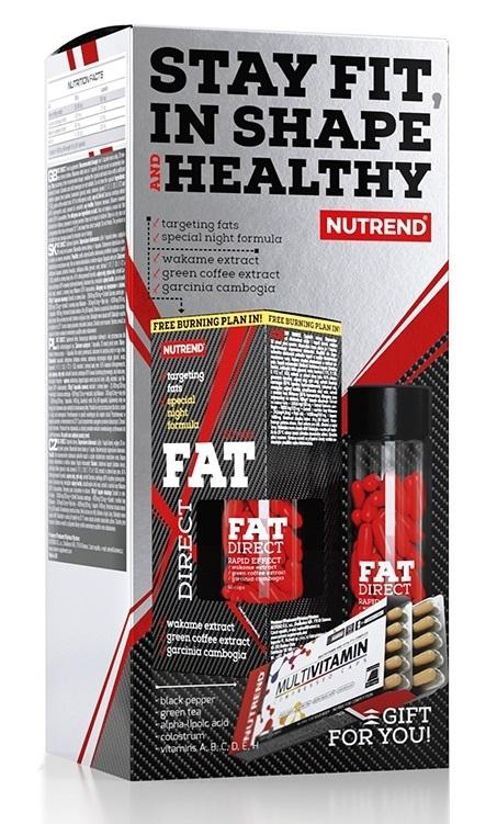 Nutrend Fat Direct 60 kapslí + Multivitamin Compressed 60 kapslí