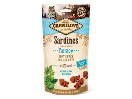 CARNILOVE Cat Semi Moist Snack Sardine enriched with Parsley 50g