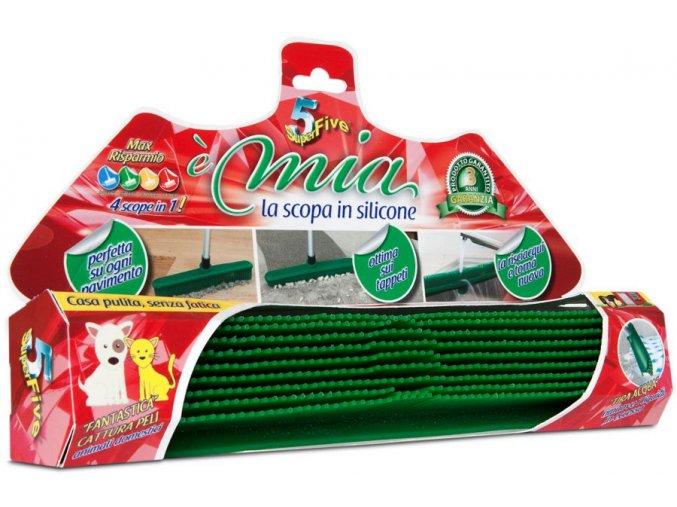 Koště silikonové zelené