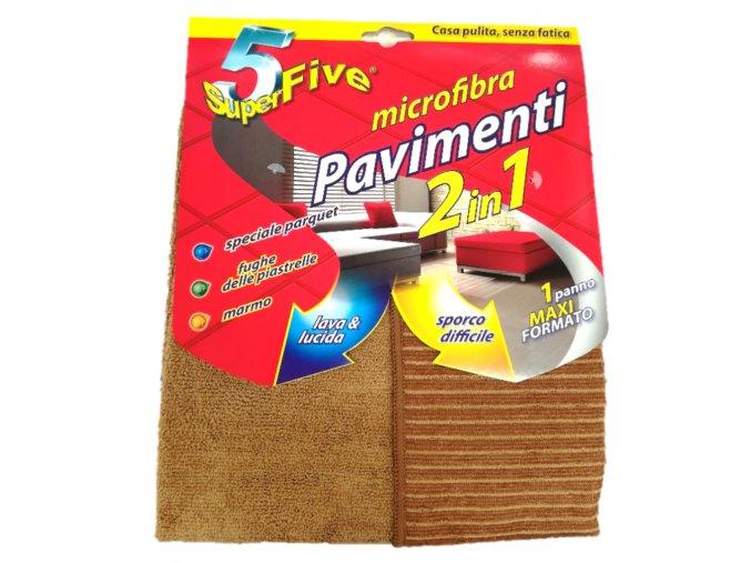 SuperFive Pavimenti microfibra 2 v 1 hnědá