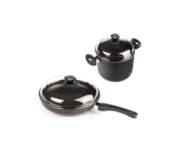 Sada titanového nádobí rendlík TEQ 201 + pánev TEQ 285