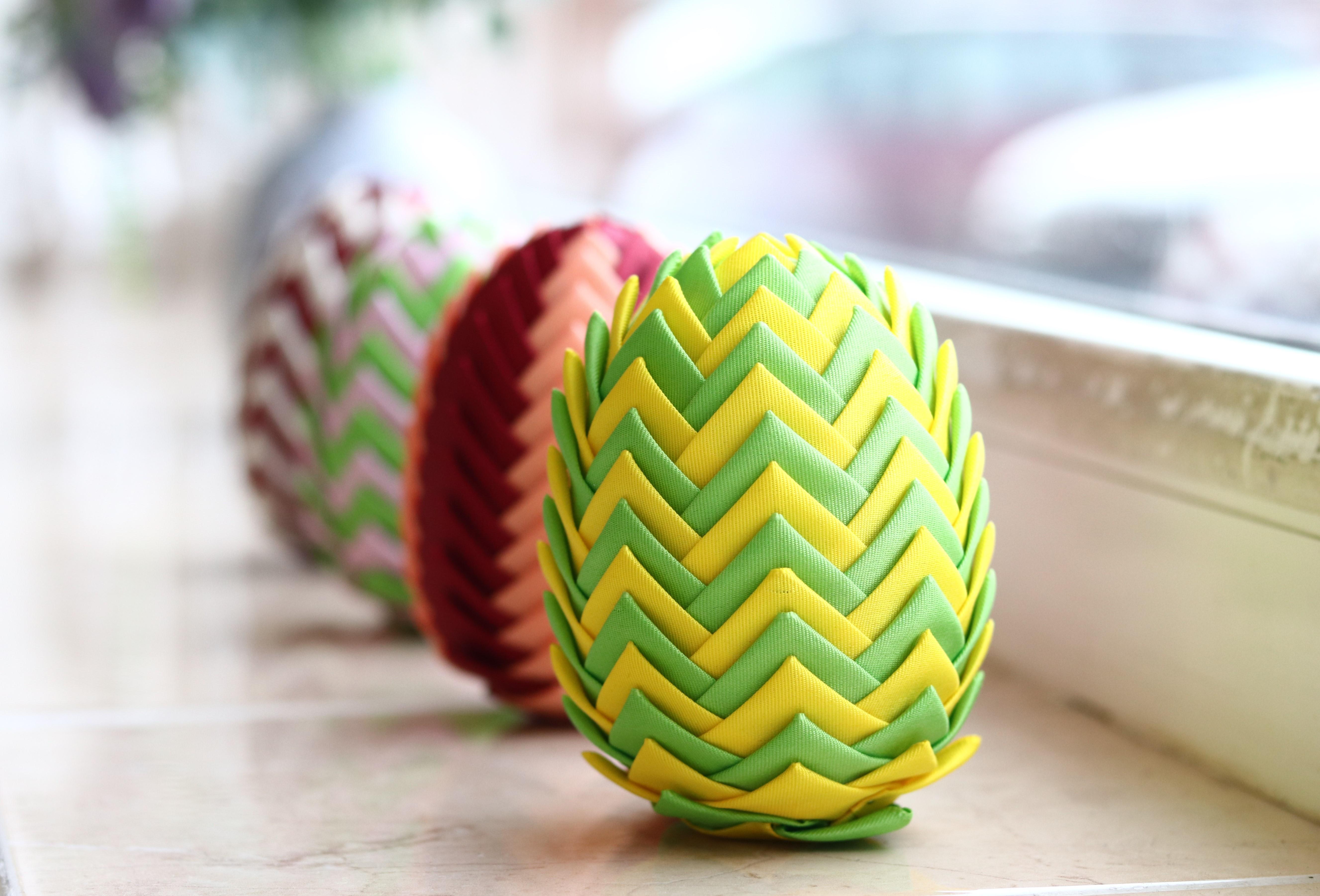 Patchworkové velikonoční vajíčko